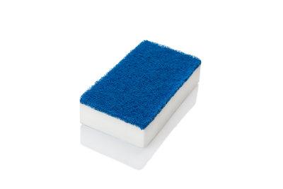 Dubbelzijdige spons - wit/blauw
